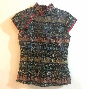 Oriental Japanese Chinese Top Blouse Shirt
